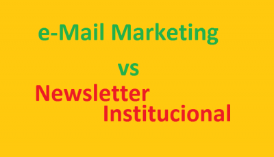 Diferenças entre e-mail Marketing e Newsletter Institucional